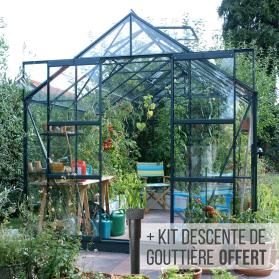 Serre en verre trempé 3 mm LAURUS 8,10 m² - Verte