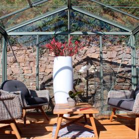 Serre en verre trempé Lams SUPRA 23,00 m² - Aluminium naturel