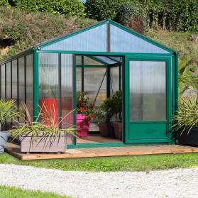 Serre en verre trempé Lams SUPRA 25,80 m² - Coloris au choix