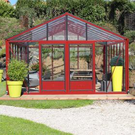 Serre en verre trempé Lams SUPRA 24,40 m² - Coloris au choix