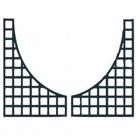 Lot de 2 treillages de finition arc boutant 2 x 1 m H.1,41 m - Anthracite