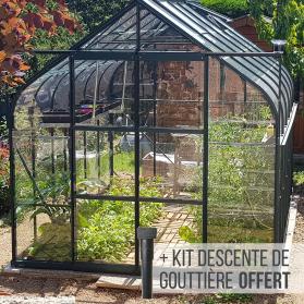 serre de jardin en verre 9m² toit verre et plexiglass