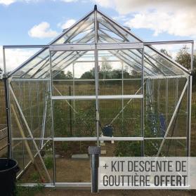 Serre en verre trempé 3 mm LAURUS 8,10 m²