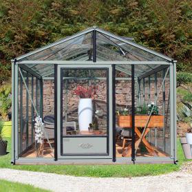 Serre en verre trempé Lams SUPRA 19,00 m² - Coloris au choix