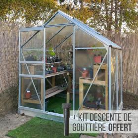 Serre Lams ALLIUM 2,50 m² - Aluminium naturel