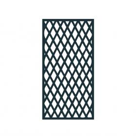 Treillage rectangle 1m x H.1,97 m maille losange - Anthracite