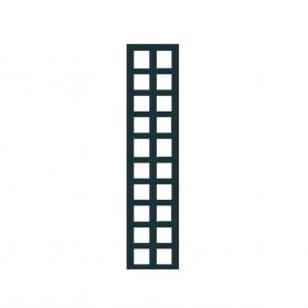 Treillage colonne 0,30 m x 1,41 m maille carrée - Anthracite