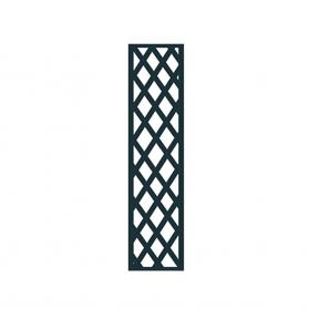 Treillage colonne 0,30 m x H.1,41 m maille losange - Anthracite