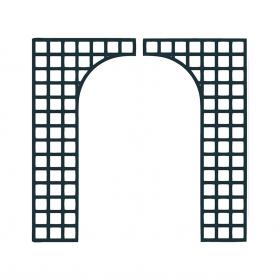 Lot de 2 treillages de finition baies 2 x 1 m H.1,97 m - Anthracite