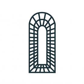 Treillage trompe l'oeil balcon 0,70 m x H.1,80 m - Anthracite