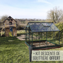 Serre de jardin en verre trempé Lams ALLIUM 4,90 m²
