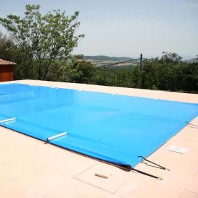 Bâche à barres de sécurité pour piscine Vanille