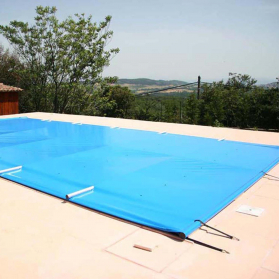 Bâche à barres de sécurité pour piscine Wasabi