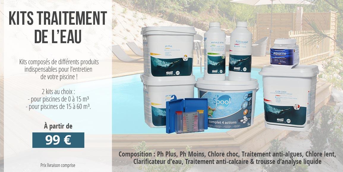 Kits traitement de l'eau pour piscines